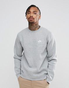 Серый свитшот с галочкой Nike Club 804340-063 - Серый
