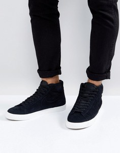 Черные кроссовки средней высоты Nike Blazer 371761-033 - Черный