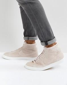 Розовые кроссовки средней высоты Nike Blazer 371761-607 - Розовый