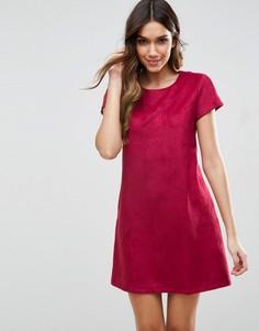 Цельнокройное платье с короткими рукавами Traffic People - Красный