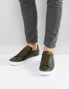 Кроссовки цвета хаки с эффектом крокодиловой кожи Armani Jeans - Зеленый