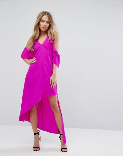 Асимметричное платье с вырезами на плечах Adelyn Rae Oliana - Розовый