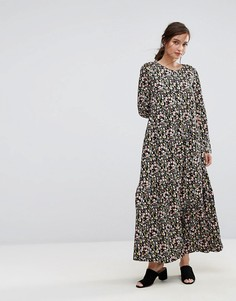 Платье макси с тюльпанами People Tree X V&A - Мульти