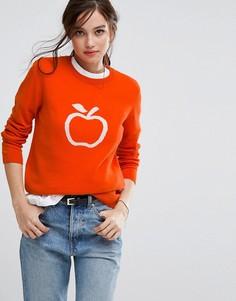 Джемпер из органического хлопка с узором яблока People Tree - Оранжевый