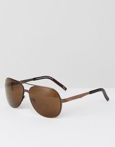Солнцезащитные очки-авиаторы в матовой оправе медного цвета ASOS - Медный