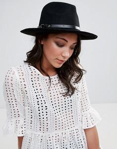 Фетровая шляпа Pieces - Черный