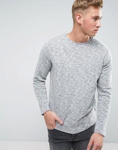 Меланжевый свитшот с асимметричным краем Jack & Jones - Серый