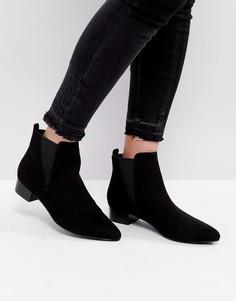 Ботинки на среднем каблуке с острым носком London Rebel - Черный