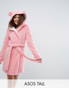 Пушистый халат с ушами ASOS TALL - Розовый