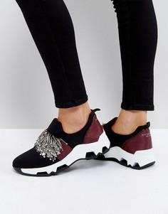Черные декорированные кроссовки SixtySeven - Черный