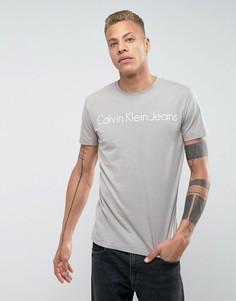 Футболка с логотипом Calvin Klein Jeans - Серый