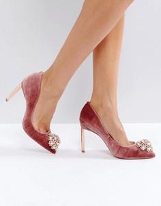 Бархатные туфли-лодочки Ted Baker Peetch - Розовый