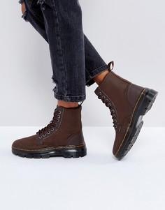 Кожаные ботинки Dr Martens Combs - Коричневый