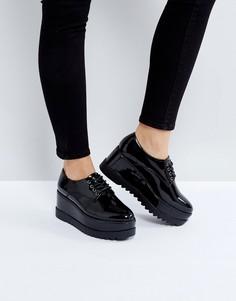 Туфли на платформе со шнуровкой Truffle Collection - Черный