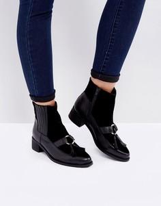 Кожаные ботинки челси с кисточками Park Lane - Черный