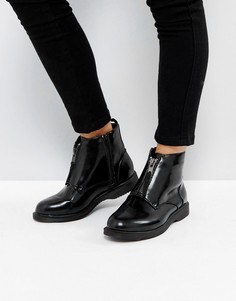 Ботинки на молнии спереди Truffle Collection - Черный