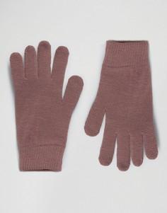 Розовые перчатки для сенсорных гаджетов ASOS - Серый