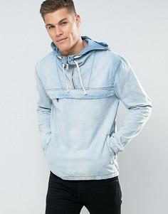 Джинсовая куртка с капюшоном Blend - Синий