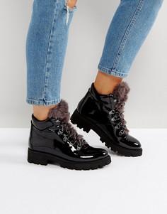 Лакированные походные ботинки Steve Madden Asur - Черный