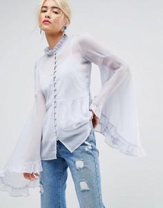 Шифоновая блузка с рукавами кимоно ASOS - Мульти