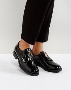 Туфли на молнии спереди Love Moschino - Черный