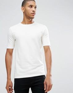 Трикотажная футболка из органического хлопка Selected Homme - Белый