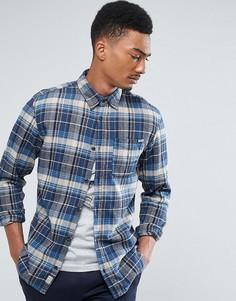 Зауженная рубашка в клетку Jack & Jones Vintage - Синий