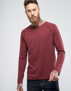 Лонгслив с необработанным краем Nudie Jeans Co Otto - Красный