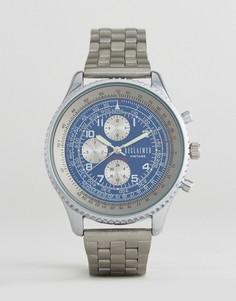 Серебристые часы с хронографом Reclaimed Vintage Inspired эксклюзивно для ASOS - Серебряный