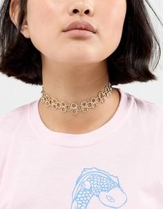 Ожерелье-чокер Nylon - Золотой