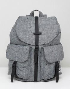 Рюкзак с принтом штриховки Herschel Supply Co Dawson - Черный