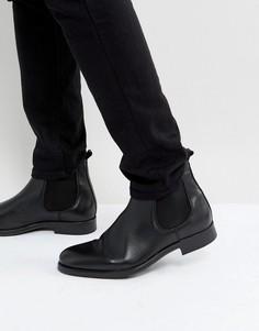 Черные кожаные ботинки челси Selected Homme Oliver - Черный