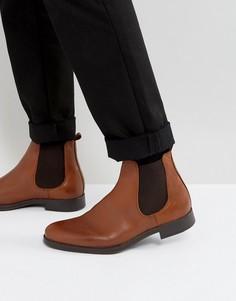 Коричневые кожаные ботинки челси Selected Homme Oliver - Коричневый