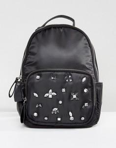 Рюкзак с отделкой камнями Yoki - Черный