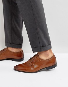 Светло-коричневые кожаные дерби на шнуровке ASOS - Рыжий