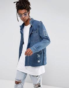 Синяя джинсовая куртка в стиле милитари Cayler & Sons - Синий