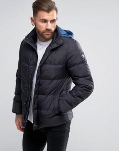 Пуховая куртка с капюшоном Puffa - Черный