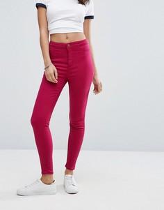 Яркие зауженные джинсы New Look - Розовый