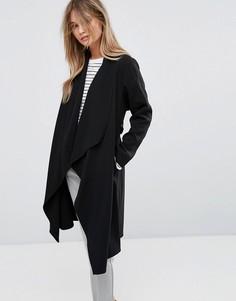 Легкое каскадное пальто New Look - Черный