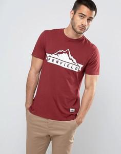 Бордовая футболка классического кроя с логотипом Penfield - Красный