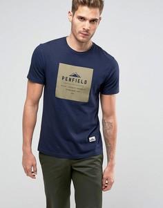 Темно-синяя футболка классического кроя с логотипом Penfield Brockton - Темно-синий