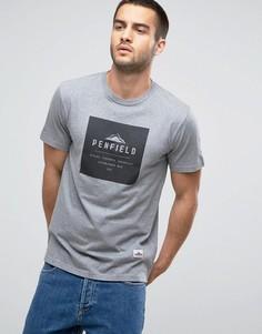 Серая меланжевая футболка классического кроя с логотипом Penfield Brockton - Серый