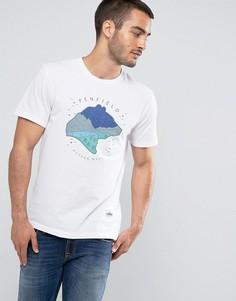 Белая футболка классического кроя с логотипом Penfield Bear Dreaming - Белый