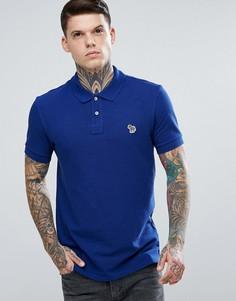 Синяя облегающая футболка-поло PS by Paul Smith - Синий