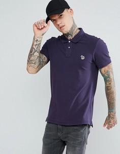 Фиолетовая футболка-поло узкого кроя с логотипом PS by Paul Smith - Фиолетовый