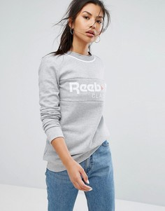 Серый свитшот с логотипом Reebok Classics - Серый