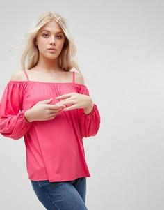 Топ с открытыми плечами b.Young - Розовый