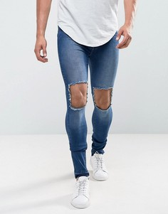 Супероблегающие темно-синие джинсы Dr Denim Leroy - Синий
