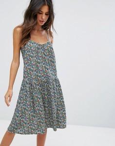 Платье-майка с цветочным принтом Soaked In Luxury - Мульти