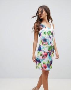 Платье с контрастным цветочным принтом Lavand - Мульти
